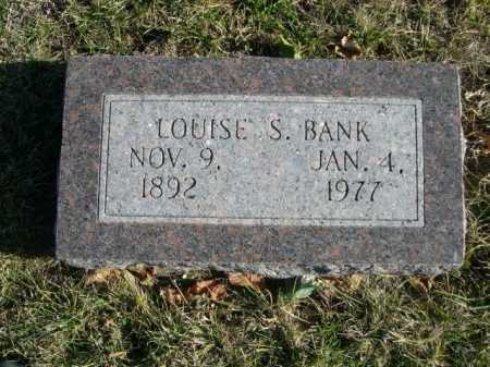 BANK, LOUISE S. - Douglas County, Nebraska | LOUISE S. BANK - Nebraska Gravestone Photos