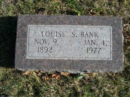 BANK, LOUISE S. - Douglas County, Nebraska | LOUISE S. BANK - Nebraska Gravestone Photos