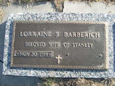 BARBERICH, LORRAINE S. - Douglas County, Nebraska   LORRAINE S. BARBERICH - Nebraska Gravestone Photos