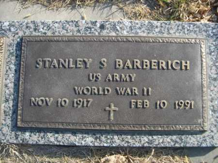 BARBERICH, STANLEY S. - Douglas County, Nebraska | STANLEY S. BARBERICH - Nebraska Gravestone Photos