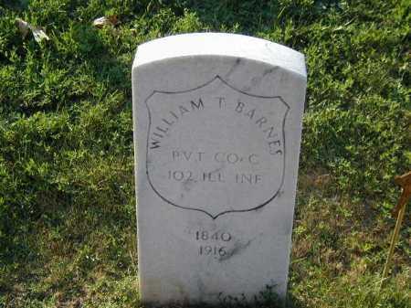 BARNES, WILLIAM T - Douglas County, Nebraska   WILLIAM T BARNES - Nebraska Gravestone Photos