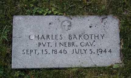 BAROTHY, CHARLES - Douglas County, Nebraska | CHARLES BAROTHY - Nebraska Gravestone Photos