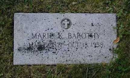 BAROTHY, MARIE KOUNAGUNDA - Douglas County, Nebraska   MARIE KOUNAGUNDA BAROTHY - Nebraska Gravestone Photos