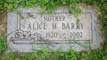 BARRY, ALICE M. - Douglas County, Nebraska | ALICE M. BARRY - Nebraska Gravestone Photos