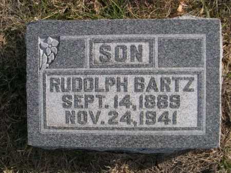 BARTZ, RUDOLPH - Douglas County, Nebraska   RUDOLPH BARTZ - Nebraska Gravestone Photos
