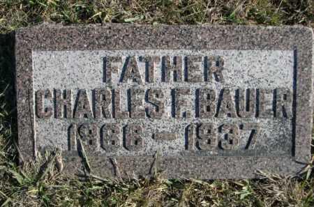 BAUER, CHARLES F. - Douglas County, Nebraska | CHARLES F. BAUER - Nebraska Gravestone Photos