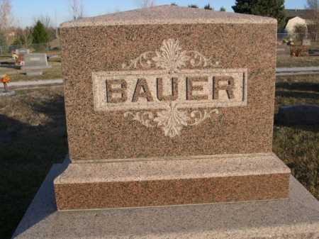 BAUER, FAMILY - Douglas County, Nebraska | FAMILY BAUER - Nebraska Gravestone Photos