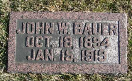 BAUER, JOHN W. - Douglas County, Nebraska | JOHN W. BAUER - Nebraska Gravestone Photos