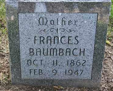 BAUMBACH, FRANCES - Douglas County, Nebraska | FRANCES BAUMBACH - Nebraska Gravestone Photos