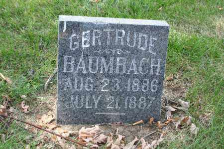 BAUMBACH, GERTRUDE - Douglas County, Nebraska | GERTRUDE BAUMBACH - Nebraska Gravestone Photos