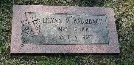 BAUMBACH, LILYAN M. - Douglas County, Nebraska | LILYAN M. BAUMBACH - Nebraska Gravestone Photos
