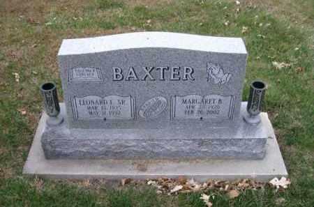 BAXTER, LEONARD E. SR. - Douglas County, Nebraska   LEONARD E. SR. BAXTER - Nebraska Gravestone Photos