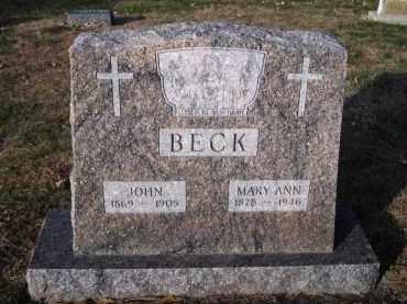 BECK, MARY ANN - Douglas County, Nebraska | MARY ANN BECK - Nebraska Gravestone Photos