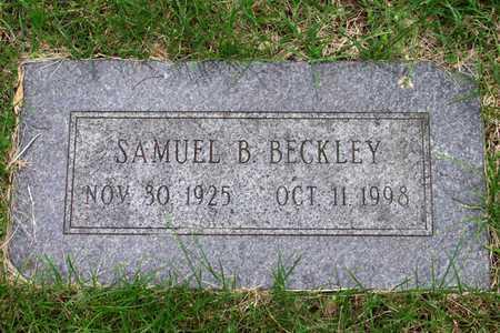 BECKLEY, SAMUEL B. - Douglas County, Nebraska | SAMUEL B. BECKLEY - Nebraska Gravestone Photos