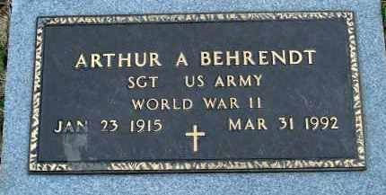 BEHRENDT, ARTHUR A. - Douglas County, Nebraska | ARTHUR A. BEHRENDT - Nebraska Gravestone Photos