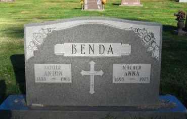 BENDA, ANTON - Douglas County, Nebraska | ANTON BENDA - Nebraska Gravestone Photos