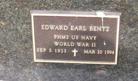 BENTZ, EDWARD EARL (MILITARY MARKER) - Douglas County, Nebraska | EDWARD EARL (MILITARY MARKER) BENTZ - Nebraska Gravestone Photos