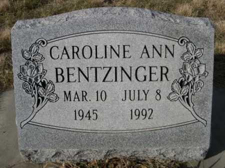 BENTZINGER, CAROLINE ANN - Douglas County, Nebraska | CAROLINE ANN BENTZINGER - Nebraska Gravestone Photos
