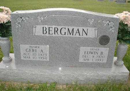 BERGMAN, EDWIN B - Douglas County, Nebraska | EDWIN B BERGMAN - Nebraska Gravestone Photos