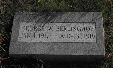 BERLINGHOF, GEORGE - Douglas County, Nebraska | GEORGE BERLINGHOF - Nebraska Gravestone Photos