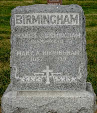 BIRMINGHAM, MARY A - Douglas County, Nebraska | MARY A BIRMINGHAM - Nebraska Gravestone Photos