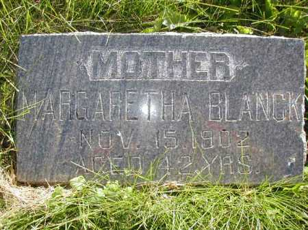 BLANCK, MARGARETHA - Douglas County, Nebraska   MARGARETHA BLANCK - Nebraska Gravestone Photos