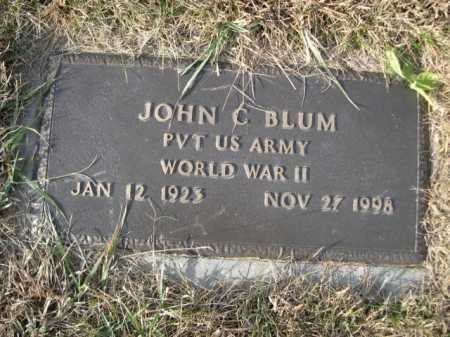 BLUM, JOHN C. - Douglas County, Nebraska | JOHN C. BLUM - Nebraska Gravestone Photos