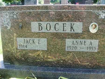 BOCEK, ANNE A. - Douglas County, Nebraska | ANNE A. BOCEK - Nebraska Gravestone Photos