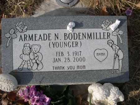 YOUNGER BODENMILLER, ARMEADE N. - Douglas County, Nebraska | ARMEADE N. YOUNGER BODENMILLER - Nebraska Gravestone Photos