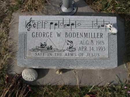 BODENMILLER, GEORGE W. - Douglas County, Nebraska | GEORGE W. BODENMILLER - Nebraska Gravestone Photos