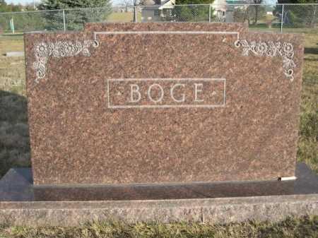 BOGE, FAMILY - Douglas County, Nebraska | FAMILY BOGE - Nebraska Gravestone Photos