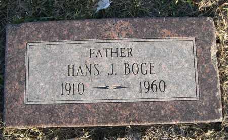 BOGE, HANS J. - Douglas County, Nebraska   HANS J. BOGE - Nebraska Gravestone Photos