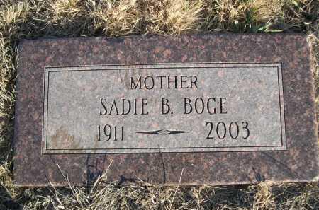 BOGE, SADIE B. - Douglas County, Nebraska   SADIE B. BOGE - Nebraska Gravestone Photos