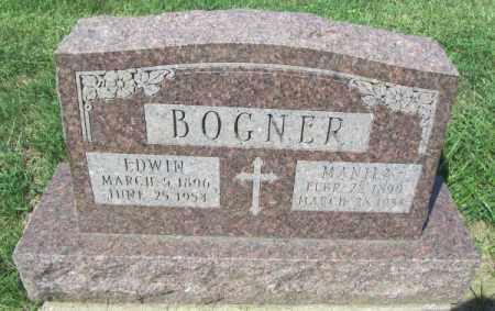 BOGNER, EDWIN - Douglas County, Nebraska | EDWIN BOGNER - Nebraska Gravestone Photos