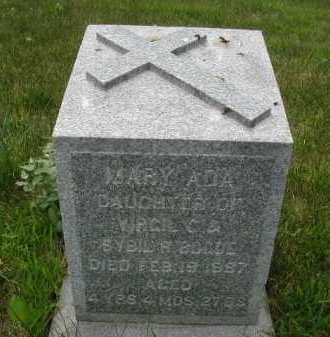 BOGUE, MARY ADA - Douglas County, Nebraska | MARY ADA BOGUE - Nebraska Gravestone Photos