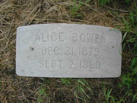 BOWEN, ALICE - Douglas County, Nebraska   ALICE BOWEN - Nebraska Gravestone Photos