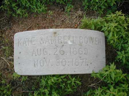 BOWEN, KATE GAMBELL - Douglas County, Nebraska | KATE GAMBELL BOWEN - Nebraska Gravestone Photos