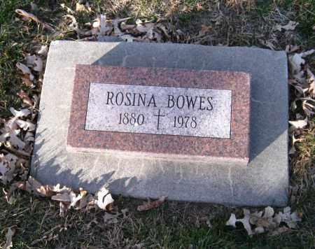 BOWES, ROSINA - Douglas County, Nebraska | ROSINA BOWES - Nebraska Gravestone Photos