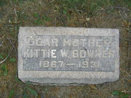 BOWKER, KITTIE W - Douglas County, Nebraska | KITTIE W BOWKER - Nebraska Gravestone Photos