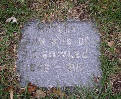 BOWLES, ANN - Douglas County, Nebraska | ANN BOWLES - Nebraska Gravestone Photos