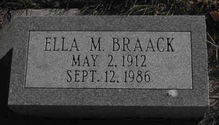 BRAACK, ELLA - Douglas County, Nebraska | ELLA BRAACK - Nebraska Gravestone Photos