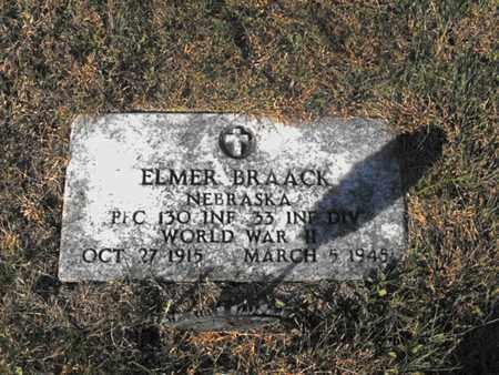 BRAACK, ELMER - Douglas County, Nebraska | ELMER BRAACK - Nebraska Gravestone Photos
