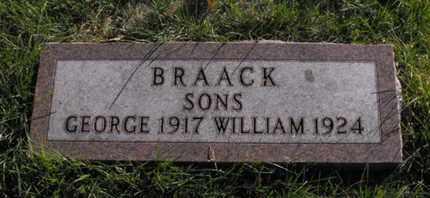 BRAACK, GEORGE - Douglas County, Nebraska | GEORGE BRAACK - Nebraska Gravestone Photos