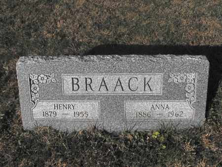 BRAACK, HENRY - Douglas County, Nebraska | HENRY BRAACK - Nebraska Gravestone Photos