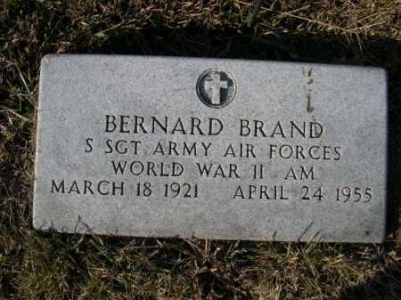 BRAND, BERNARD - Douglas County, Nebraska   BERNARD BRAND - Nebraska Gravestone Photos