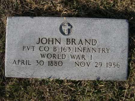 BRAND, JOHN - Douglas County, Nebraska   JOHN BRAND - Nebraska Gravestone Photos