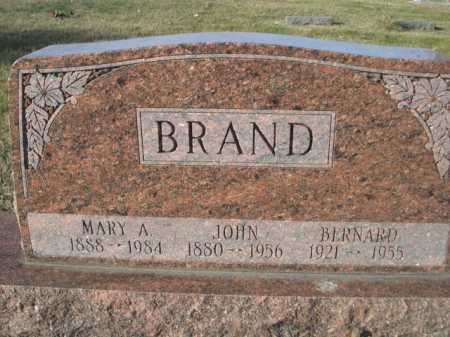 BRAND, BERNARD - Douglas County, Nebraska | BERNARD BRAND - Nebraska Gravestone Photos