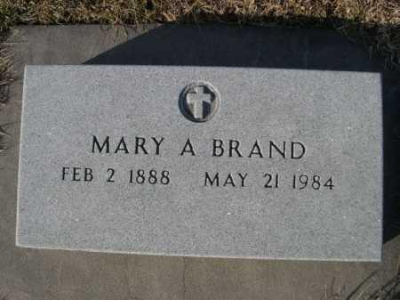 BRAND, MARY A. - Douglas County, Nebraska   MARY A. BRAND - Nebraska Gravestone Photos