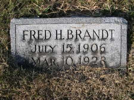 BRANDT, FRED H. - Douglas County, Nebraska   FRED H. BRANDT - Nebraska Gravestone Photos