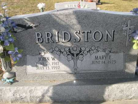 BRIDSTON, MARY E. - Douglas County, Nebraska | MARY E. BRIDSTON - Nebraska Gravestone Photos